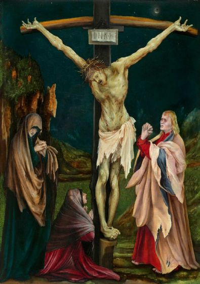 Grunewald, Matthias: The Small Crucifixion. Fine Art Print/Poster (4097)